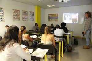 Clase teórica en la autoescuela GO!!! de Bilbao