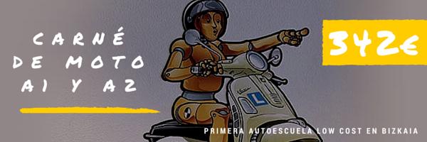Carné de moto en Bilbao