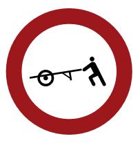 Entrada prohibida a carros de mano