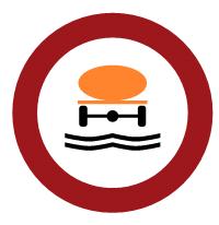 Prohibición de entrada a vehículos que transporten productos que puedan contaminar el agua.