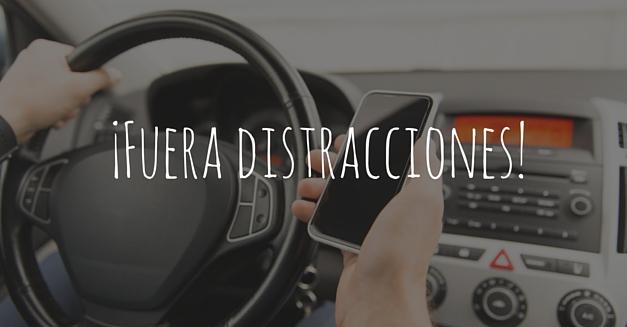 Evitar distracciones en el coche