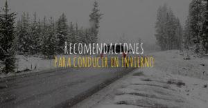recomendaciones para conducir en invierno