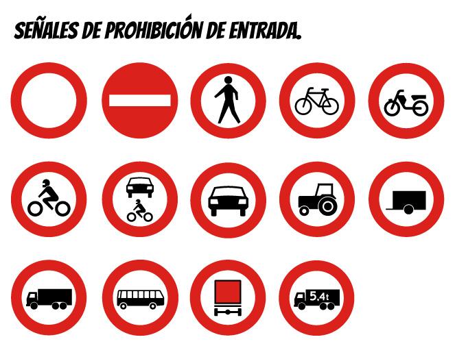señales de prohibición de entrada