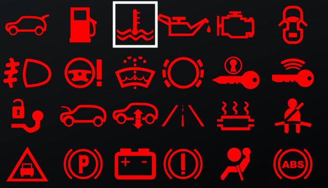 símbolo líquido refrigerante